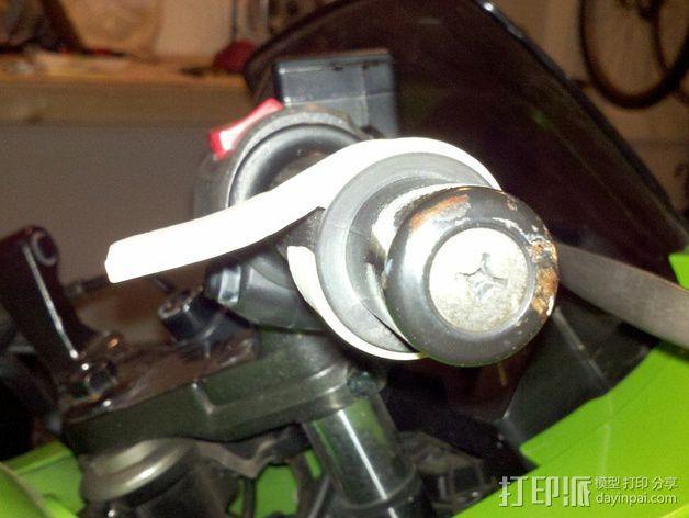摩托车 腕托 3D模型  图3