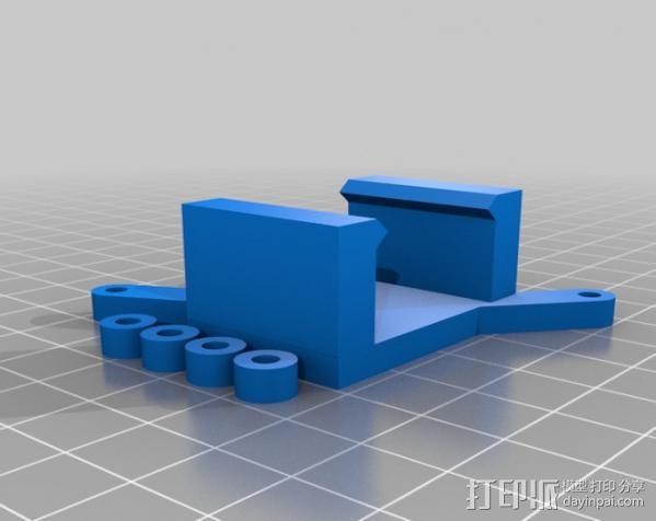 Arduino电路板 电池夹 3D模型  图2