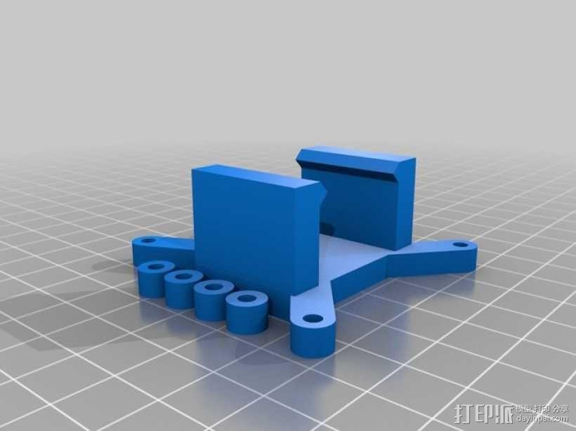 Arduino电路板 电池夹 3D模型  图1