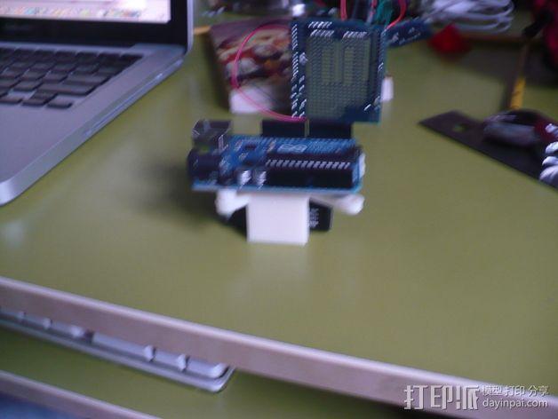 Arduino电路板 电池夹 3D模型  图4