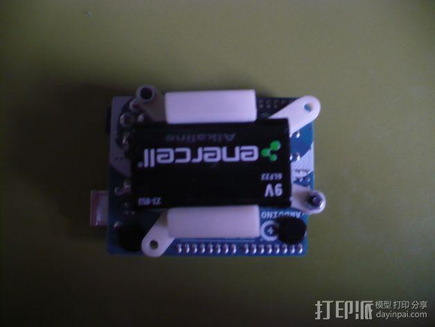 Arduino电路板 电池夹 3D模型  图3