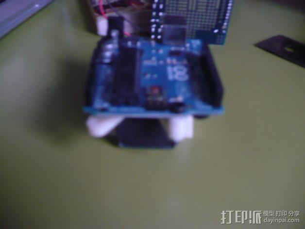 Arduino电路板 电池夹 3D模型  图7
