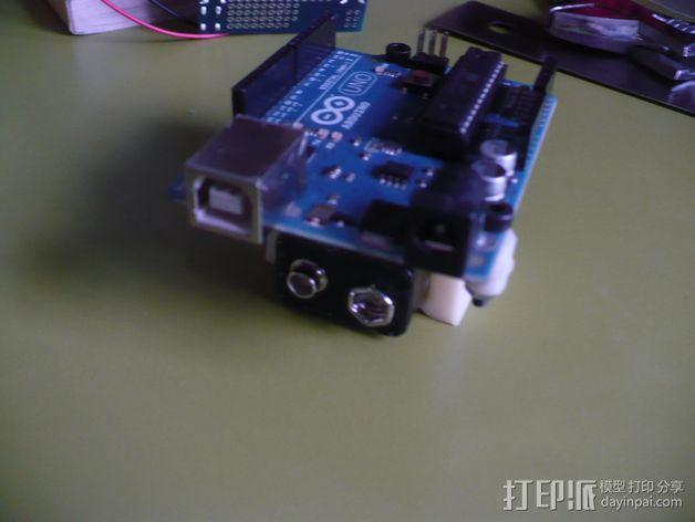 Arduino电路板 电池夹 3D模型  图6