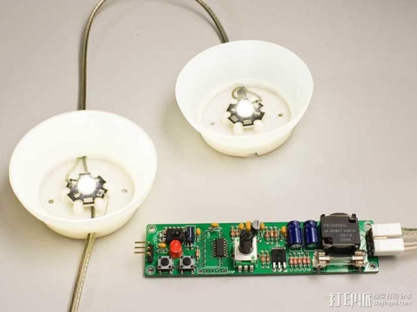 大功率LED灯 灯罩 3D模型  图1