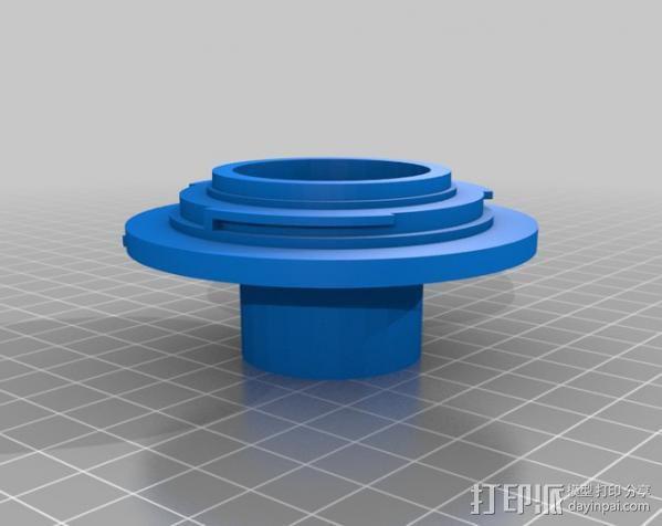 EF接环镜头聚焦器 3D模型  图3