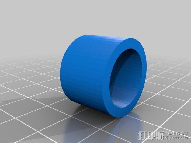 万向轮支架 3D模型  图4