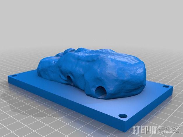 齿轮马达支架 3D模型  图3