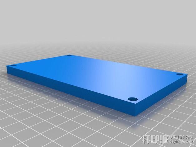 齿轮马达支架 3D模型  图2