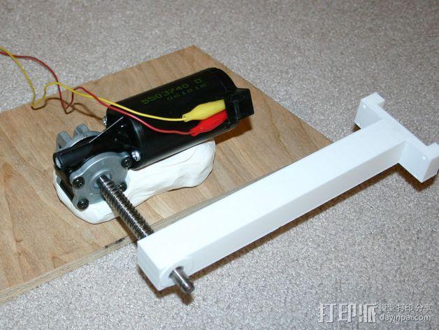 齿轮马达支架 3D模型  图7