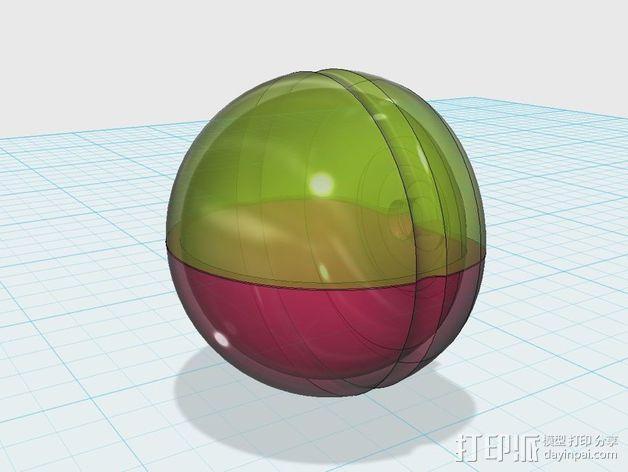 圆极化天线 外壳 3D模型  图3