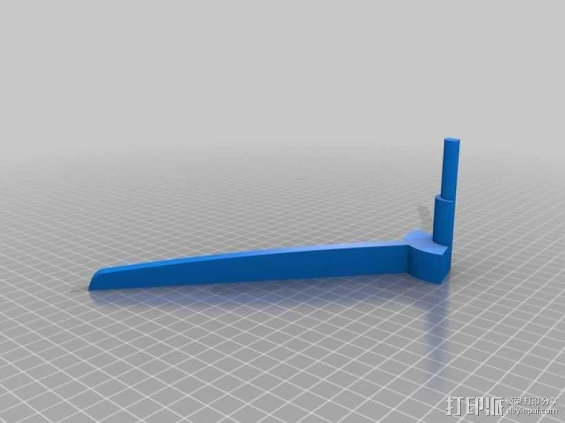 两头双簧管站架 3D模型  图4