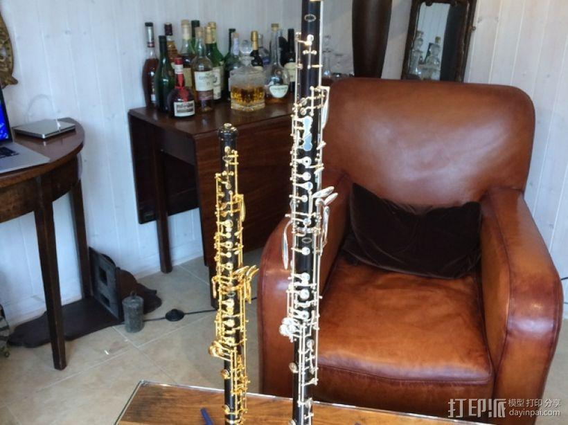 两头双簧管站架 3D模型  图6