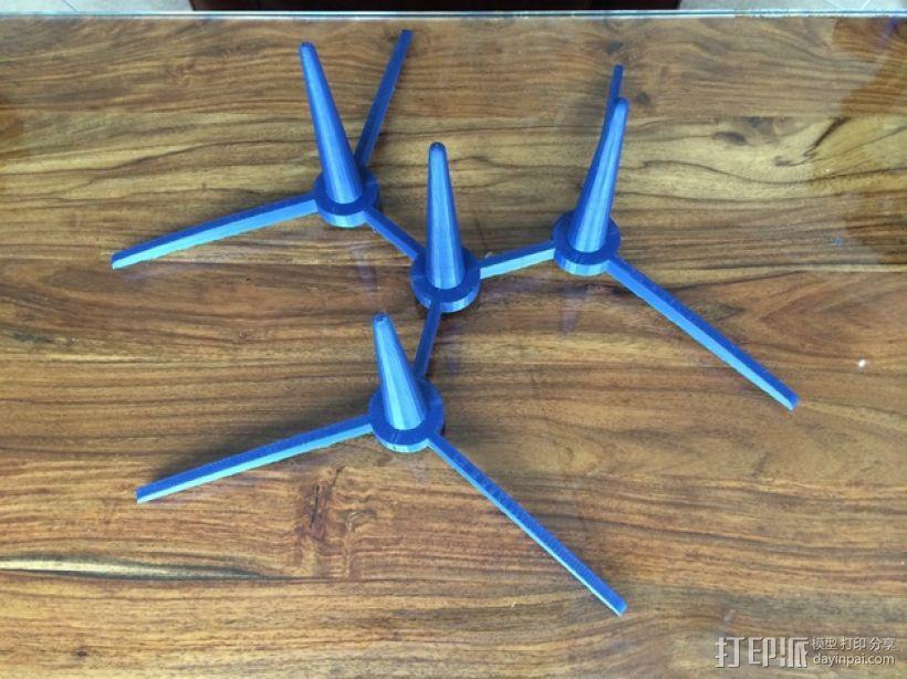 两头双簧管站架 3D模型  图8