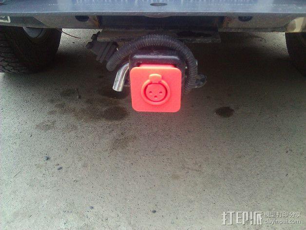 XLR拖车挂接装置 保护套 3D模型  图2