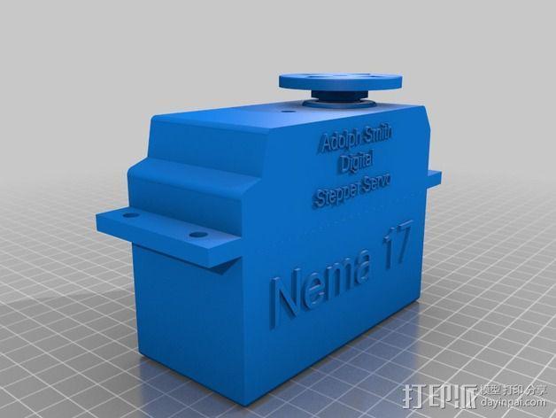 Nema 17步进电机伺服系统 3D模型  图1