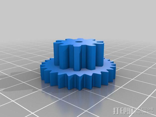 Nema 17步进电机伺服系统 3D模型  图3