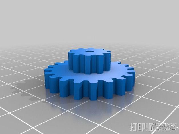 Nema 17步进电机伺服系统 3D模型  图4