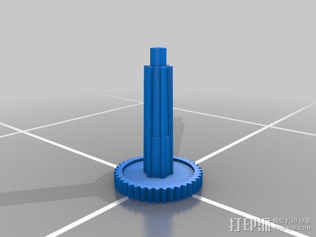 遥控赛车 轮轴 3D模型  图2