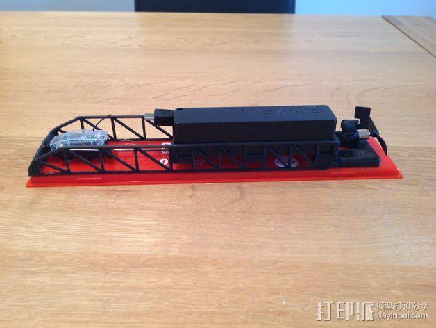PowerUp 3.0遥控纸飞机电源和数据线装置 3D模型  图2