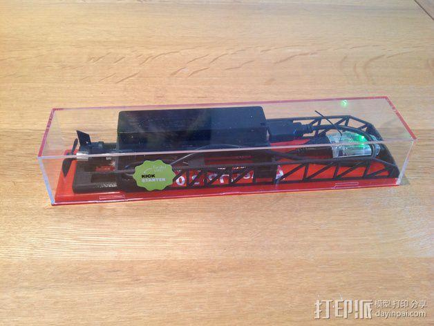 PowerUp 3.0遥控纸飞机电源和数据线装置 3D模型  图3