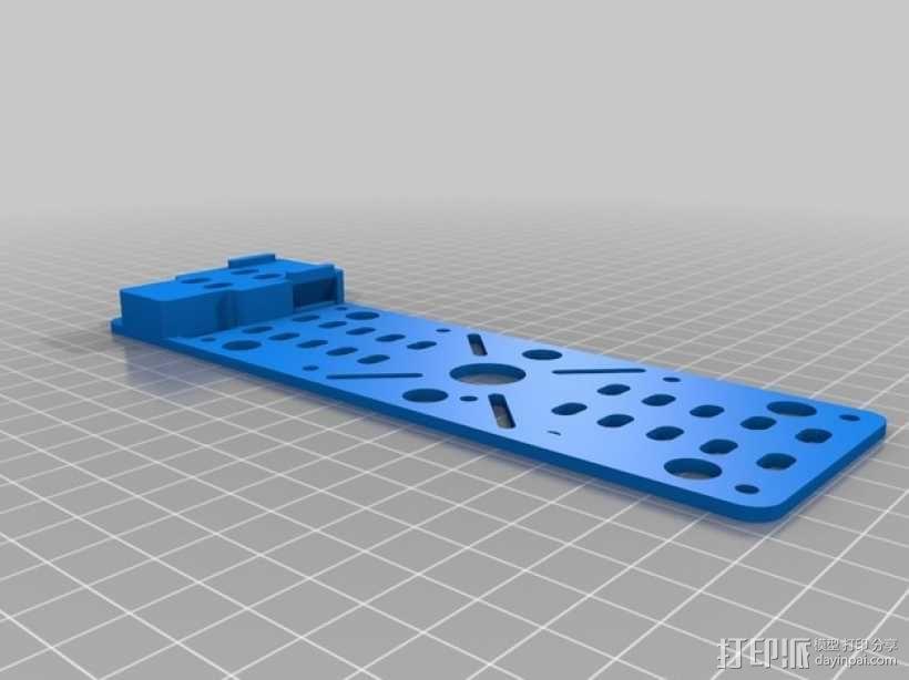 MHQ多轴飞行器 定制化零部件 3D模型  图2