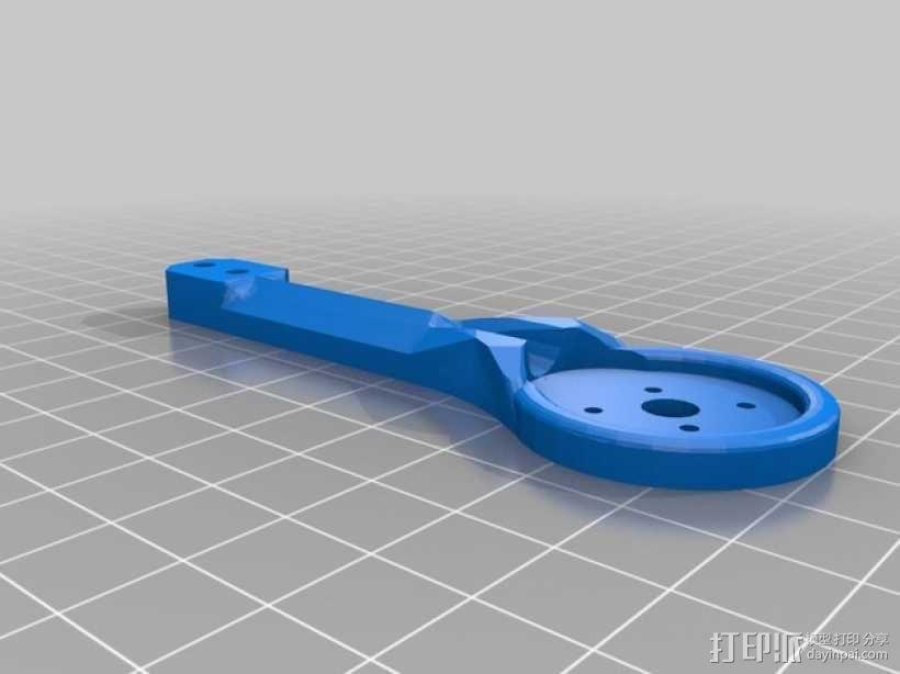 MHQ多轴飞行器 定制化零部件 3D模型  图1