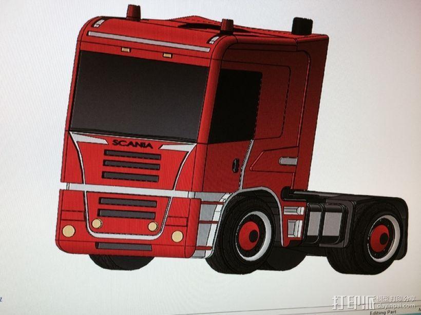 斯堪尼亚 卡车 3D模型  图1