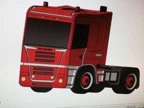 斯堪尼亚 卡车 3D模型