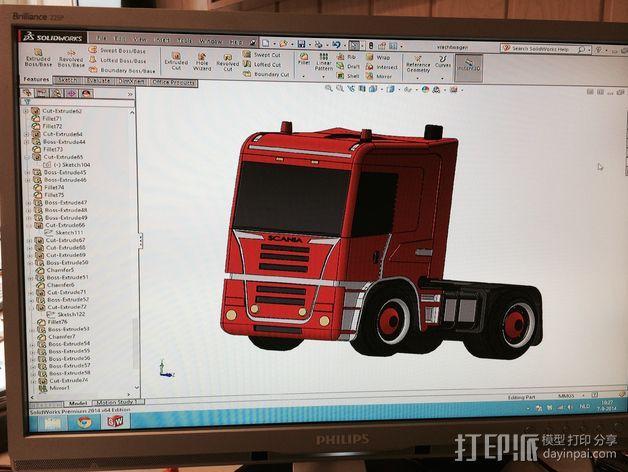 斯堪尼亚 卡车 3D模型  图6