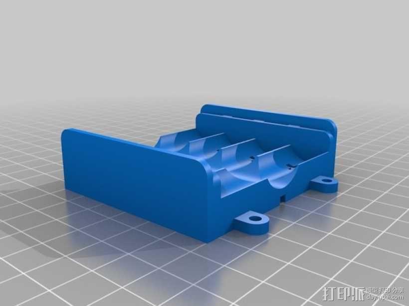 AA电池盒 3D模型  图1