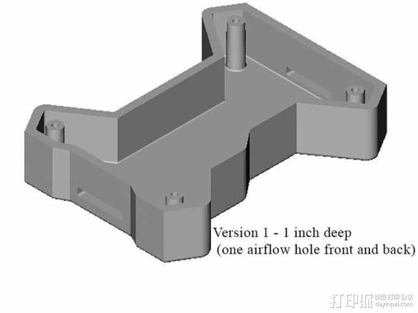 多轴飞行器底板 3D模型  图3
