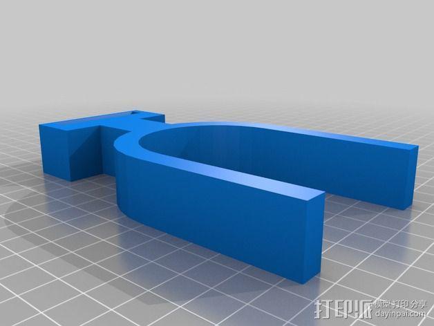 小号 弱音器支架 3D模型  图2