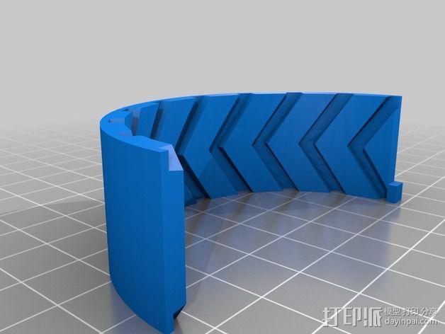 遥控赛车 车轮模具 3D模型  图2