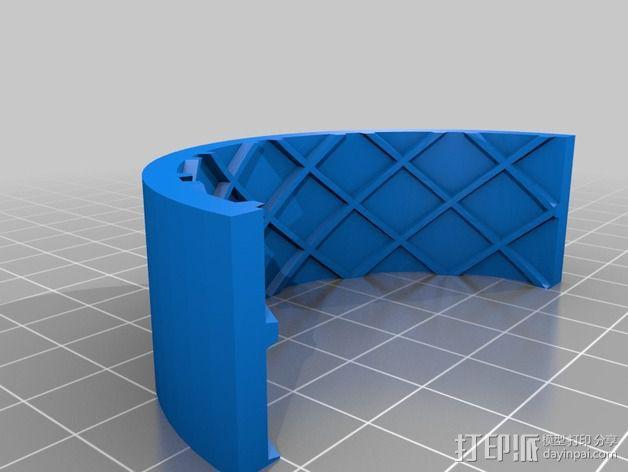 遥控赛车 车轮模具 3D模型  图4