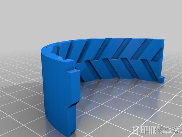 遥控赛车 车轮模具 3D模型  图3