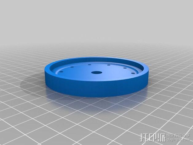 遥控赛车 车轮模具 3D模型  图8