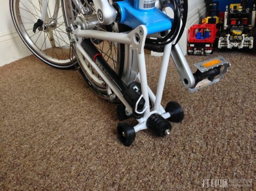 Brompton专业折叠自行车 轮胎 3D模型  图1