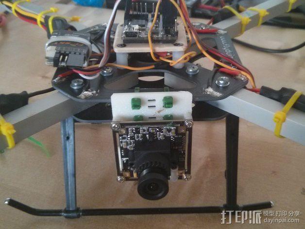 600TVL相机中心板  3D模型  图3