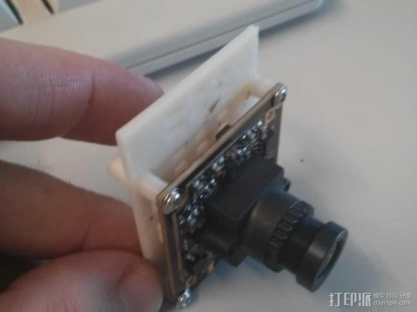 600TVL相机中心板  3D模型  图1