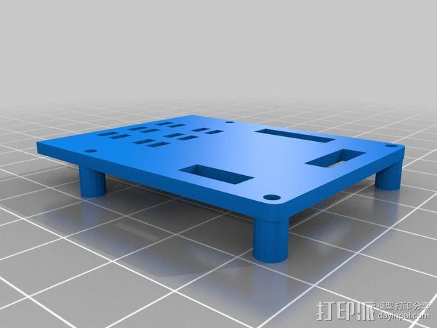 600TVL相机中心板  3D模型  图2