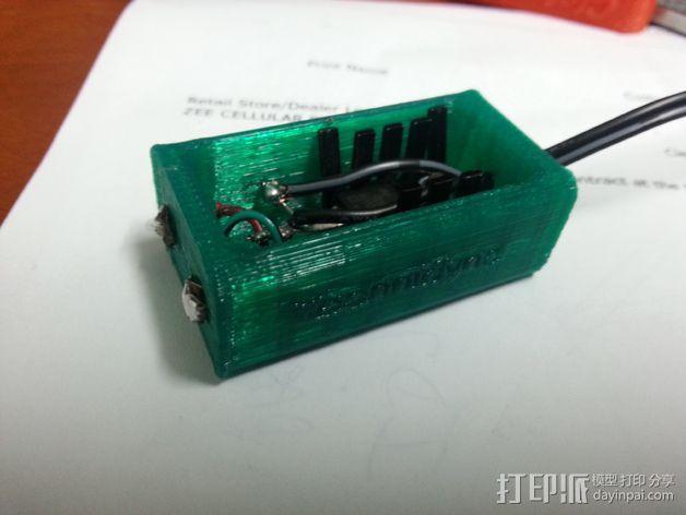 电池配适器 3D模型  图2
