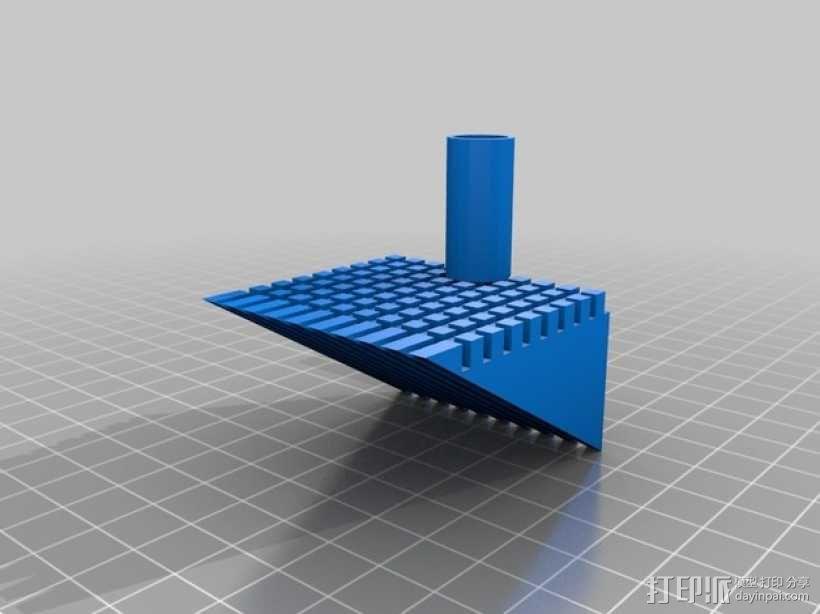 排水孔 碎片挡板 3D模型  图1