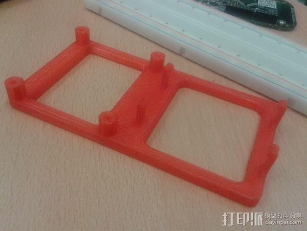 FRDM-KL25Z电路板底座 3D模型  图3