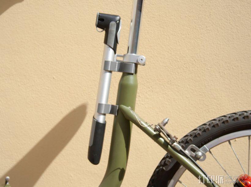 Graziella自行车 打气筒架 3D模型  图1