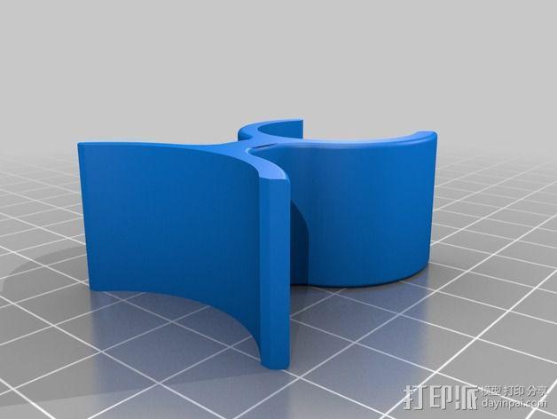 Graziella自行车 打气筒架 3D模型  图9