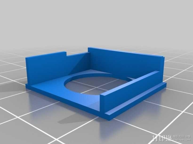MaxSonar LV-EZ4超声波传感器外壳 3D模型  图3