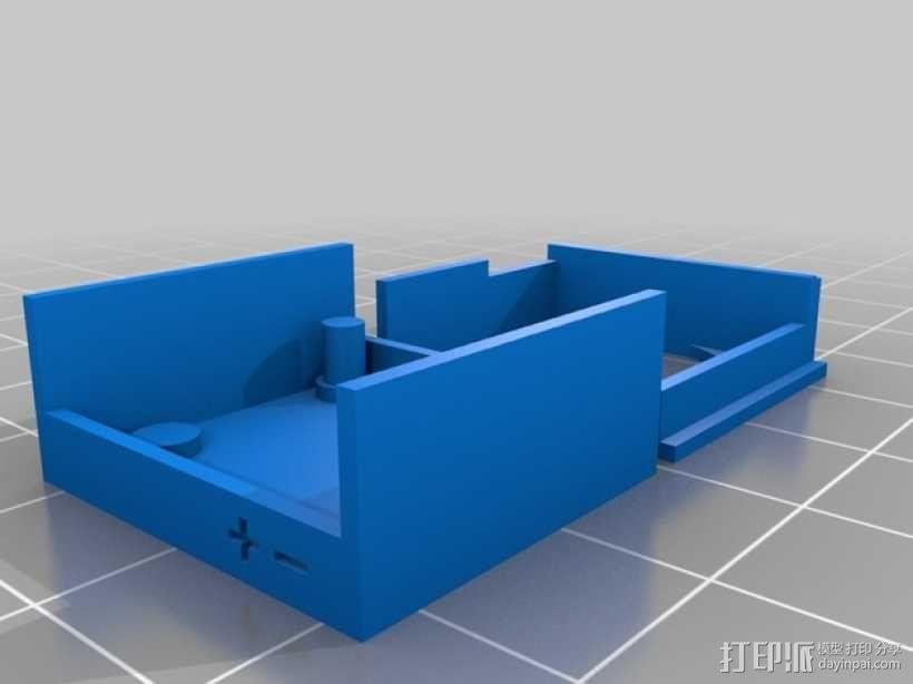 MaxSonar LV-EZ4超声波传感器外壳 3D模型  图4