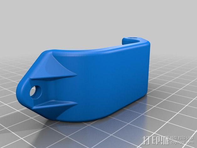 电池固定夹 3D模型  图2
