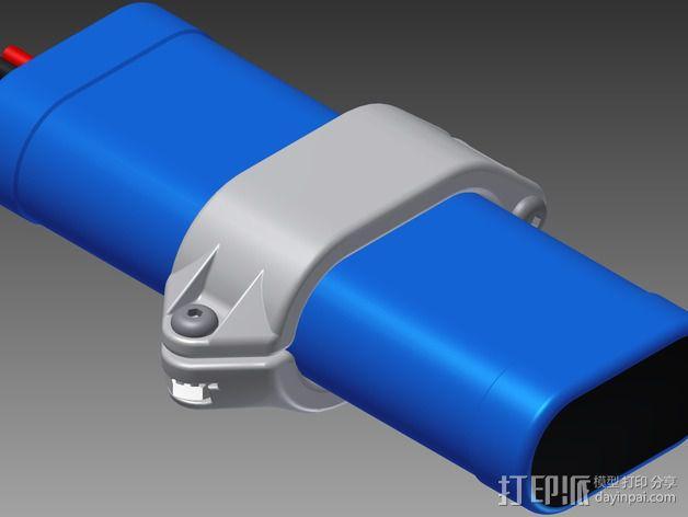 电池固定夹 3D模型  图4
