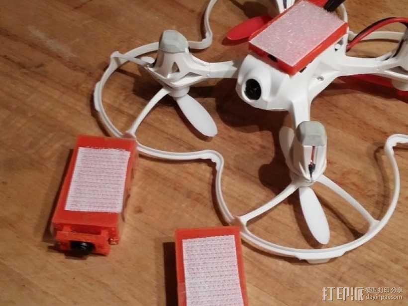 Hubsan X4多轴飞行器 相机支架 3D模型  图1